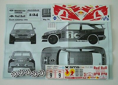 1/24 TK Ford Escort RS Rally Acropoli'94 KIT montaggio RARO limited Racing 43