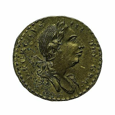 George Iii Brass Quarter Guinea Coin Weight 1775