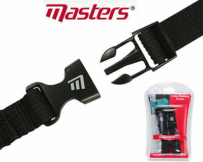Masters Golf Trolley Webbing Straps x 2 Strong with Quick Release Clips 2017