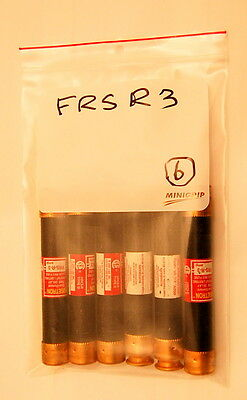 Cooper Bussman Fusetron Fuses FRS-R-3 Class RK5 Fuse- Lot of 6 free shipping