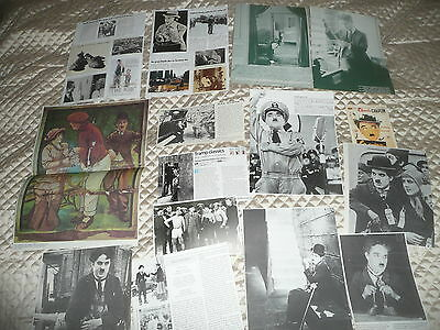 CHARLIE  CHAPLIN  approx 40  pictures and articles