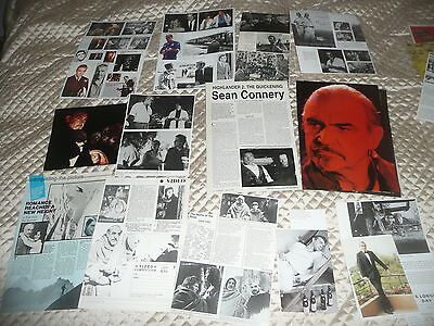 SEAN  CONNERY  approx 50  pictures and articles