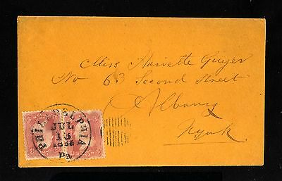 14873-USA-OLD COVER PHILADELPHIA to ALBANY.1863.UNITED STATES.EEUU.Envelope.