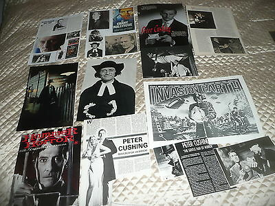PETER  CUSHING.. approx 40  pictures and article