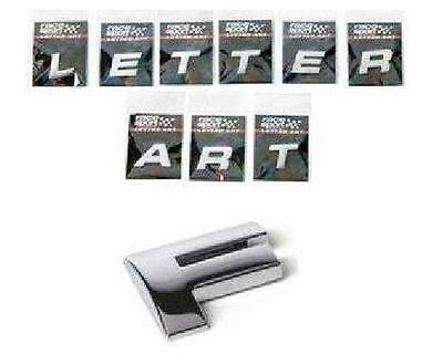 Chrome 3D Self-Adhesive Letter Art Car Badge Signs Stickers For Home & Auto