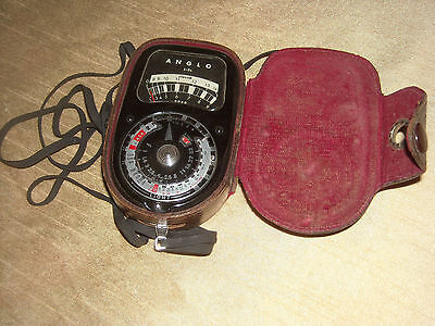 Anglo L-3b Flash - Exposure Light Meter with Case