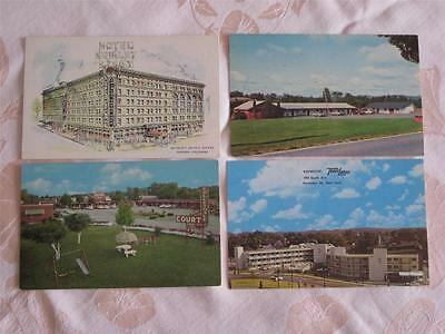 Lot Of 11 Pcs, All Hotels, Motels, All Usa But 1, All Chromes, But 1