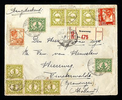 14860-NETHERLAND INDIES-REGISTERED COVER SEMARANG to GRONINGEN(holland)1934.WWII