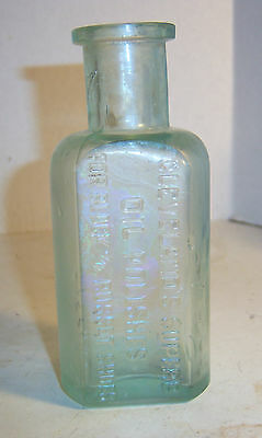 1890's Cleveland Superb Oil Polishes Hyde Park, Mass 5 3/8 inches tall Bottle