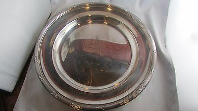 ancien grand plat rond metal argenté poinconné style LXVI christofle 32.5 cm!!