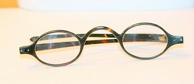 C1900 Faux Tortoise Shell Reading Spectacles , 4.75 In Wide, Good Cond.