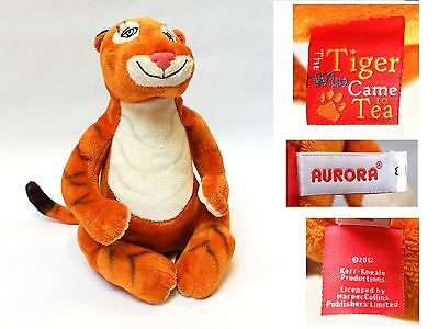 """Judith Kerr TIGER WHO CAME TO TEA 10"""" AURORA 2012 SOFT TOY VGC"""