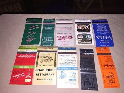 Group Of Matchbook Covers From Various Restaurants.