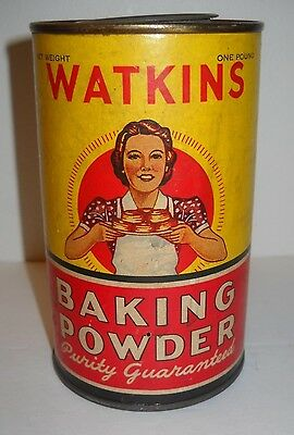 Vintage Watkins Baking Powder Old Country Store Can