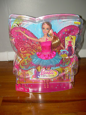 Mattel A Fairy Secret Barbie Doll NIP 2 in 1 Wings Flip Open