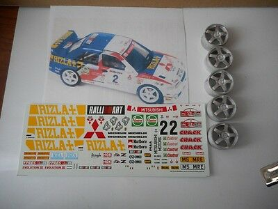 1/24 TK Mitsubishi Lancer EV3 RIZLA Rally '95 KIT montaggio RARO Racing43