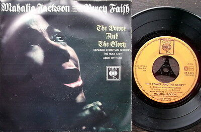"""MAHALIA JACKSON-THE POWER AND THE GLORY  7"""" EP-CBS Benelux Issue-The Holy City"""