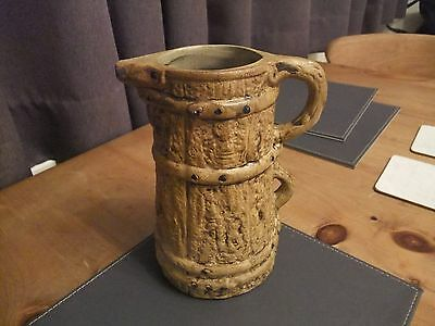 Lovely Hillstonia Two Handled Jug In Barrel Affect