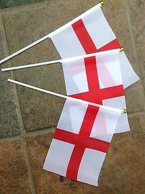 3 x ENGLAND Flags HAND WAVING ENGLISH FLAG St Georges day, sports events, Rugby