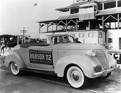 1938 Hudson Convertible Coupe Indy 500 Pace Car Factory Photo ca6331