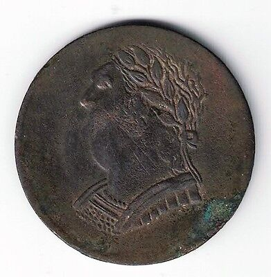 LOWER CANADA 1820 BUST AND HARP COPPER TOKEN NINE STRINGS 4.9gr LC-60E3