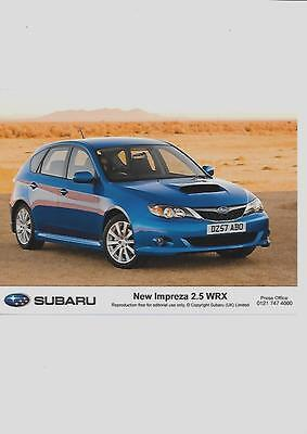 "SUBARU IMPREZA 2.5 WRX  ORIGINAL PRESS PHOTO  "" Brochure """