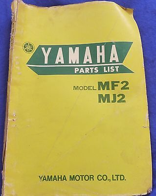 Yamaha MF2 And MJ2  Parts Book