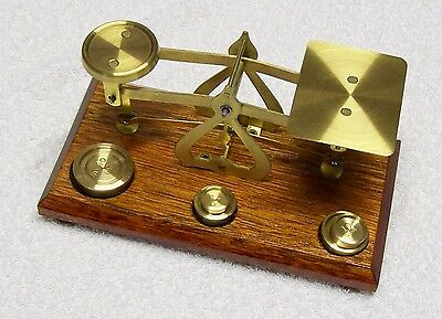 A Set of Brass Letter Scales - Made in England