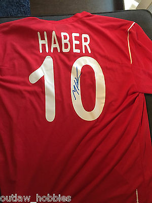 Team Canada Marcus Haber Autographed Signed Mens XL Authentic Jersey COA