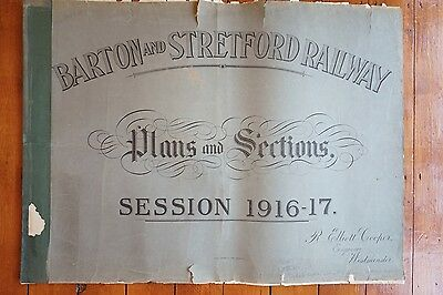 1916 Barton & Stretford Railway Original Antique Plans x3