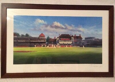 """Cricket Limited Edition Print Signed By Jack Russell ~ """"Ashes ~ Winning Runs"""""""
