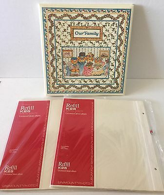Lucy Rigg Teddy Bears Family Photo Album and 2 Packages of Refill Pages