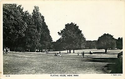 s07688 Playing Fields, Hove Park, Sussex, England RP postcard unposted