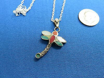 South American Jewelry 950 Sterling Silver Inca DRAGON FLY  Pendant Necklace  S
