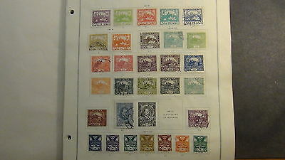 Czechoslovakia  stamp collection on Scott International  pages to '80 or so