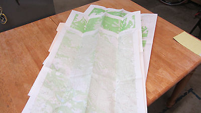 Vintage Lot of 3 USGS Topo Maps 7.5 Min Glascock Mtn Rumsey Jerico Valley