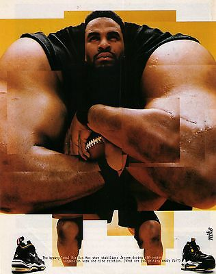 "1997 Nike ""Total Air Bus Max"" Jerome Bettis Workout Shoe Print Advertisement"