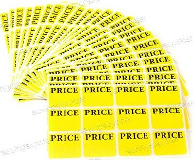 * 540 * AVERY Pricing Labels Removable Adhesive Price Tags Rectangular Yellow