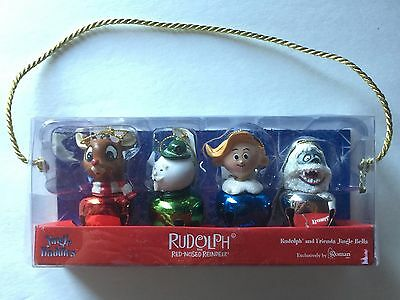 2003 Roman Inc Rudolph The Red Nose Reindeer Jingle Buddies Ornaments Set Of 4