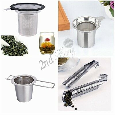 Stainless Steel Mesh Tea Infuser Strainer Loose Tea Leaf Spice Filter Colanders