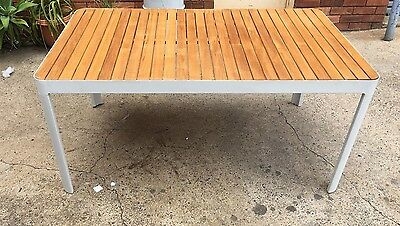 freedom outdoor Adelphi Dining Table 160x95cm in white/Neutral orp $1099
