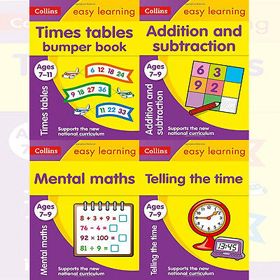 Collins Easy Learning KS2 Collection 4 Books Set (Mental Maths Ages 7-9) New PB