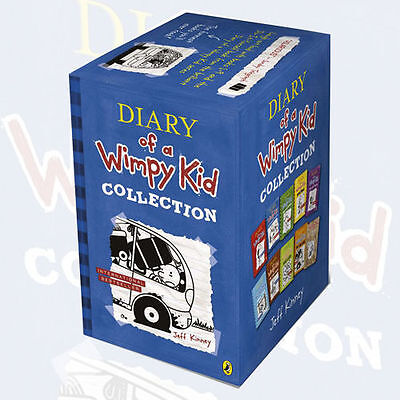Diary of a Wimpy Kid 10 Books Box Set Jeff Kinney's Collection(Rodrick Rules)NEW