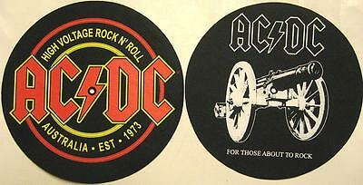 AC/DC DJ SLIPMAT FILZMATTE HIGH VOLTAGE FOR THOSE ABOUT TO ROCK 2er SET