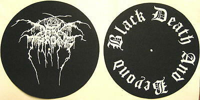 DARK THRONE DJ SLIPMAT FILZMATTE BLACK DEATH AND BEYOND 2er SET