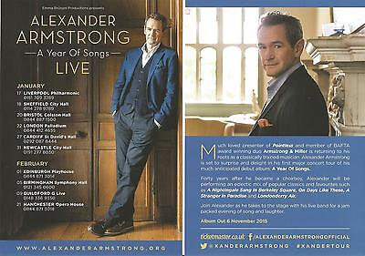 Alexander Armstrong (of Pointless)  A Year Of Songs Live UK Tour 2016  Flyer x 3