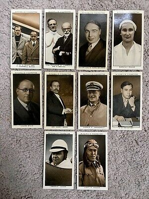 10 Rare Stephen Mitchell A Gallery Of 1934 Cigarette Cards!