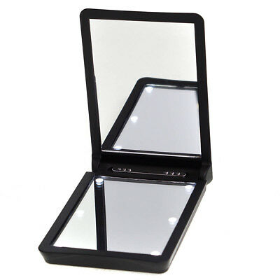 La Tweez Illuminating 2x Magnifying Led Light Up Compact Travel Cosmetic Mirror