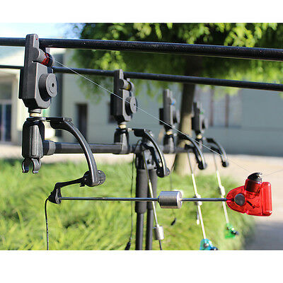 Electronic Wireless Fish LED Bite Sound Alarm Bell Clip On Fishing Rod Receiver