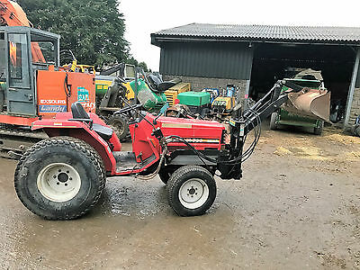compact tractor loader tractor 4 wheel drive  3 point linkage